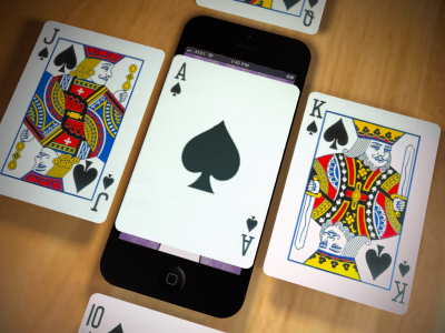 Pack of Cards mobile ixd interaction design iphone 3d render