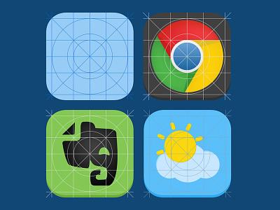 IOS 7 Guide Freebie PSD ios 7 freebie psd ios 7 icon iphone new icon ios 7 app icon