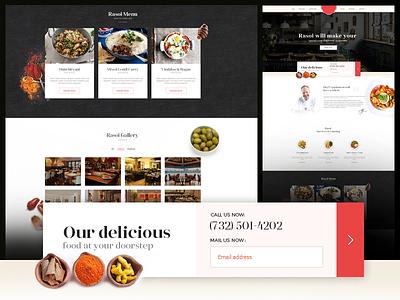 Rasoi ( Restaurant ) Landing page design colors theme design restaurant landing page website food