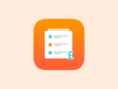 "Sale Estimate ""App Icon""  graphic flat colors estimate sale android ipad appstore icon iphone icon"