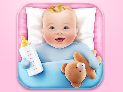 Kiddy Log bear icon ios kiddy log baby eye bottle toy child