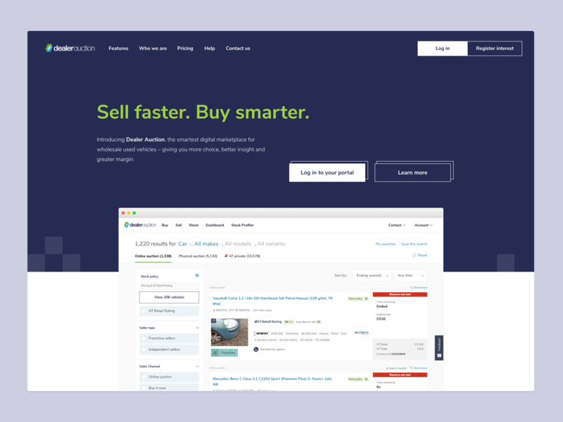 Marketing Website ux ui branding design