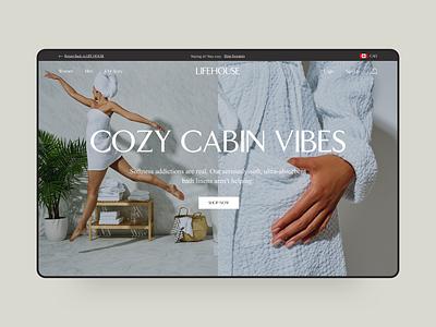 LifeHouse Hotel travel hotel shop ux ui startup shopify plus e-commerce commerce