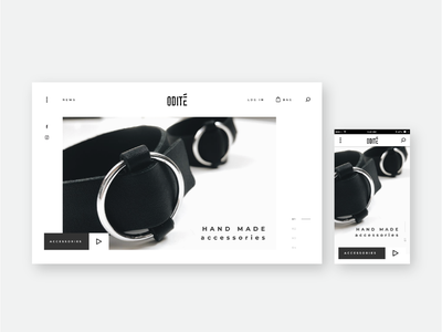 Hand Made Accessories Website landingpage icons shopdesign shop bracelet black web black ui ux interface minimalist design minimalist minimal accessories handmade homepage responsive website responsive website web design web
