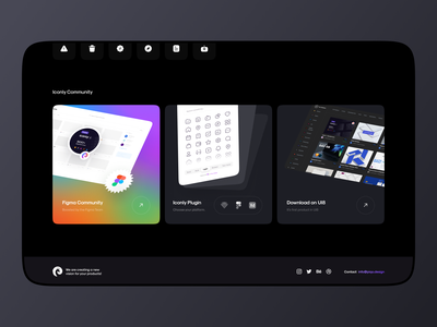 ICONLY website landing page 💥 ux ui download bold bulk broken 5style iconly stroke grid dark ui landing page landing website dark concept mobile minimal design clean