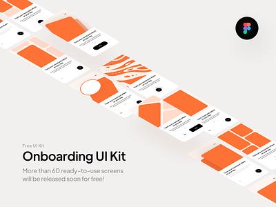 Onboarding UI Kit 🧡 mobile screen mobile design onboarding screen orange screen splash on-boarding onboarding mobile colors ui minimal design clean