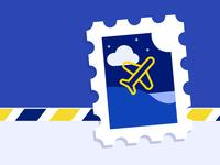 Aéropostale Stamp