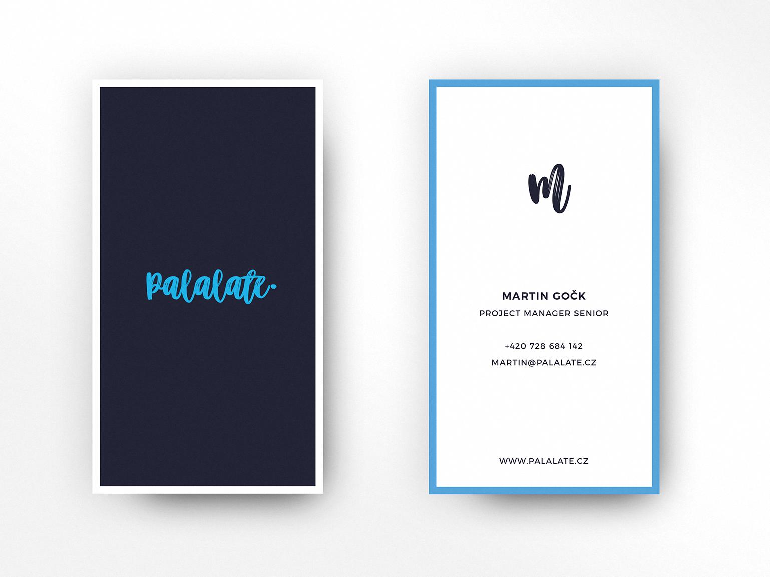 Palalate Business Cards identity card company logo logo design design logo business card