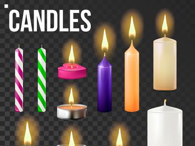 Candles Set Vector