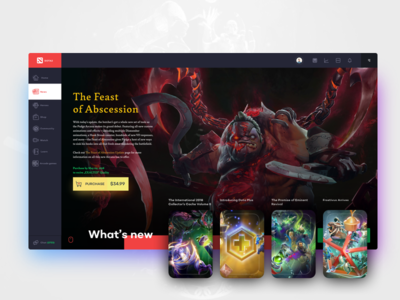 DOTA 2 - Interface Redesign / News section