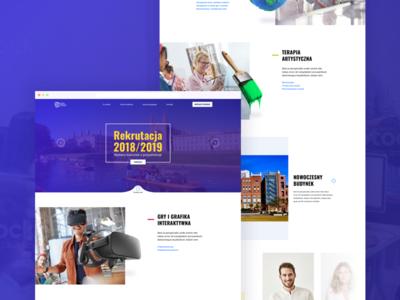 Upper Silesian Academy of Entrepreneurship - Redesign Concept