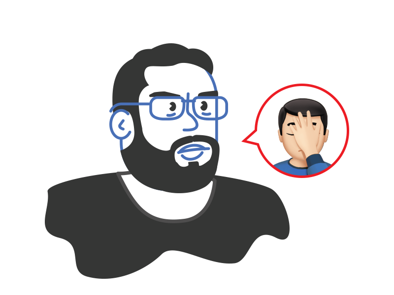 Facepalmin'. All day, erry day. ryan putnam vector illustration emoji icon line personal facepalm avatar