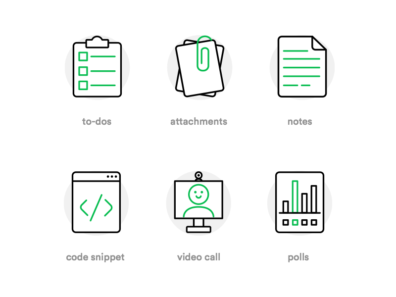 Flock App Icons ui minimal website web set illustration icon set app icon line icon icon