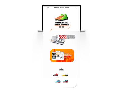 NIKE Landing Page design web ui