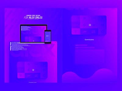 Alex D // Landing Page Design webpage design web page landing ui