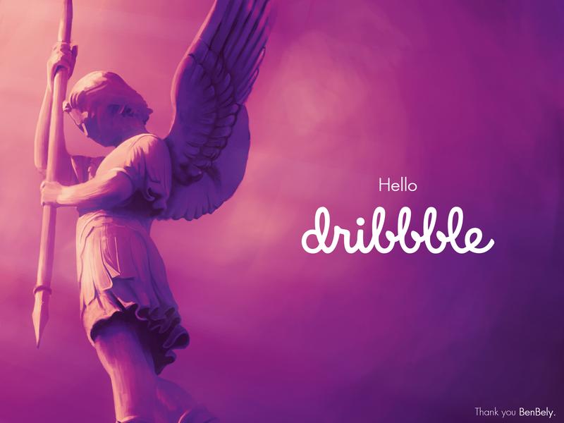 Hello Dribbble, I'm Ludovic! graphic design lyon france photoshop digital painting debut hello debut shot