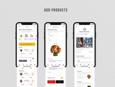 Flobule - Flowers & Plants Deliver Multistore Mobile Application clean creative plants flowers design uiux ux ui mobile