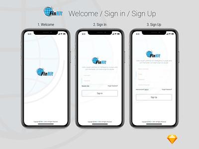 FinHit - Wallet, Finance & Banking UI Kit for Mobile Application ui design uiux ux ui banking wallet finance design app design mobile app mobile