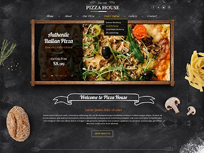 Pizza restaurant beer house bootstrap template by gridgum dribble thumb maxwellsz