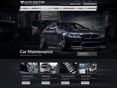 Car Repair Wordpress Theme by Gridgum.com - Dribbble