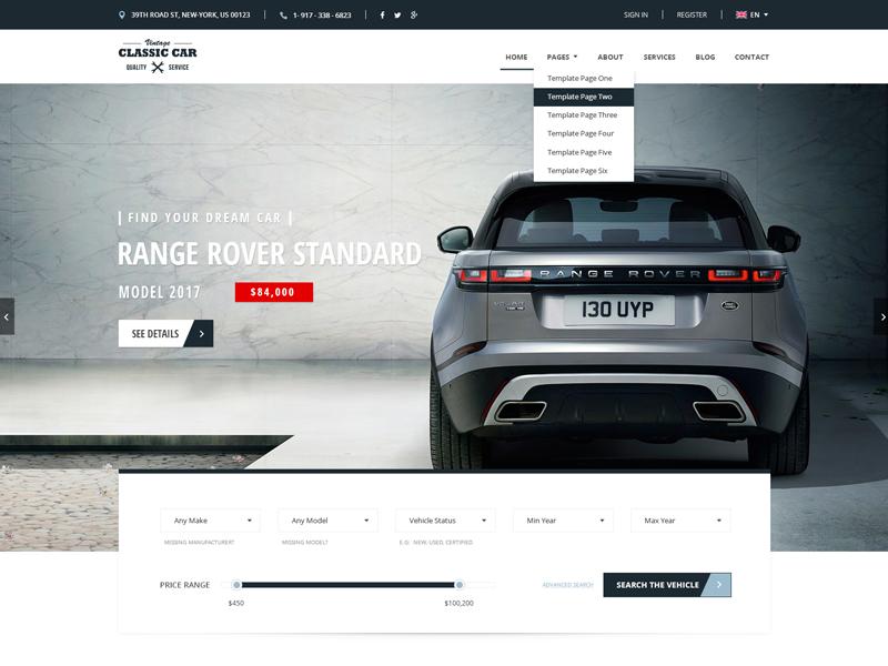Auto Dealer Bootstrap HTML Template by Gridgum.com - Dribbble