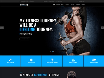 GYM, Fitness Club - Bootstrap 4 Template