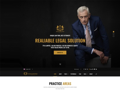 King Law Firm PSD Template photoshop templates psd template psd templates lawyer psd template