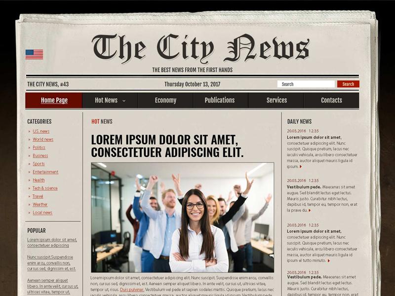 Newspaper Free Psd Photoshop Template By Gridgum Com Dribbble
