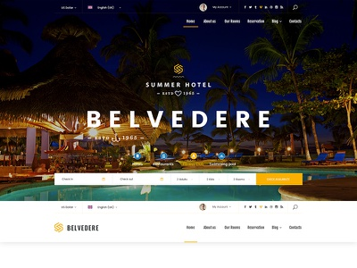 HOTEL BELVEDERE - Bootstrap 4 template hotel reservation template hotel booking templates hotel templates bootstrap 4 templates bootatrap themes bootstrap templates