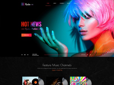 Hit Radio Bootstrap template bootstrap 4 themes bootstrap 4 templates bootstrap 4 website templates radio website templates radio templates html templates bootstrap themes bootstrap templates