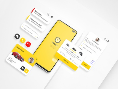 GiTex - Taxi Ui Kit for Mobile App mobile app design mobile app mobile ui taxi taxi booking app taxi driver taxi app