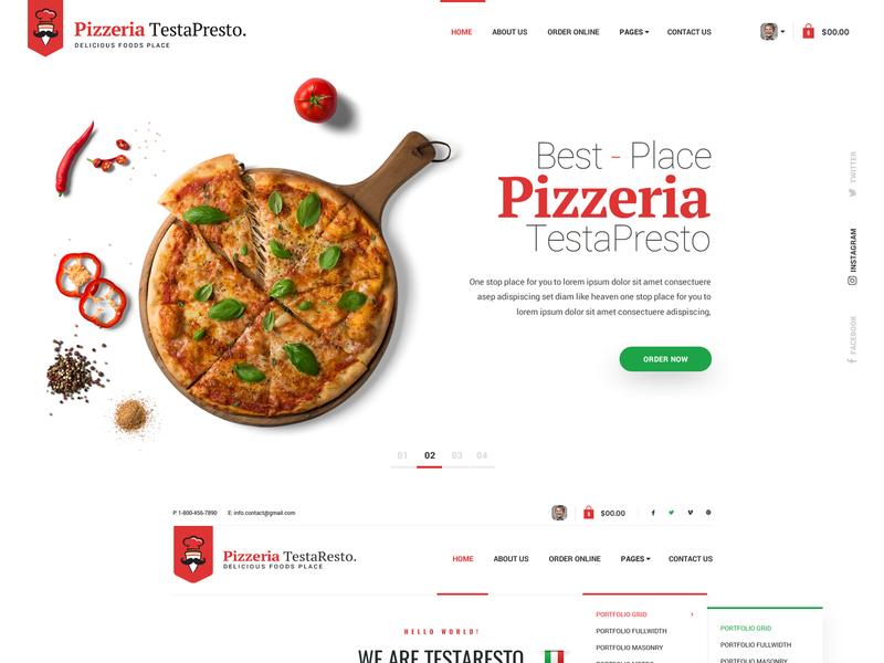 PizzeriaTestaResto pizza templates pizzeria responsive website templates website template html templates bootstrap templates