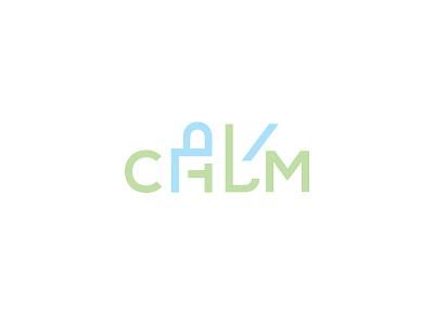 Keep Calm and do your Kaam logotype symbol mark logo calm work