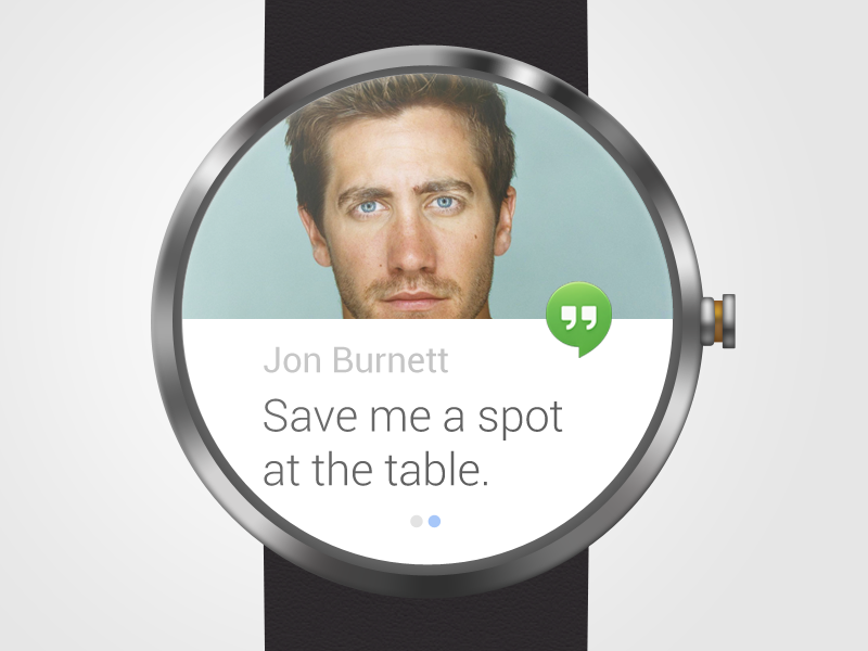 Moto360 mockup PSD hangout design watch google android moto360 wearable wrist messages ui ux