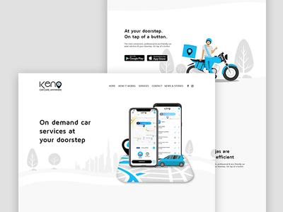 Car Care Website illustration ordering list on demand app application web website ux wash car ui