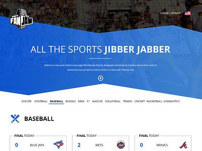Sports Podcast Streaming website interface ui app ux design listen scores baseball live streaming podcast sports