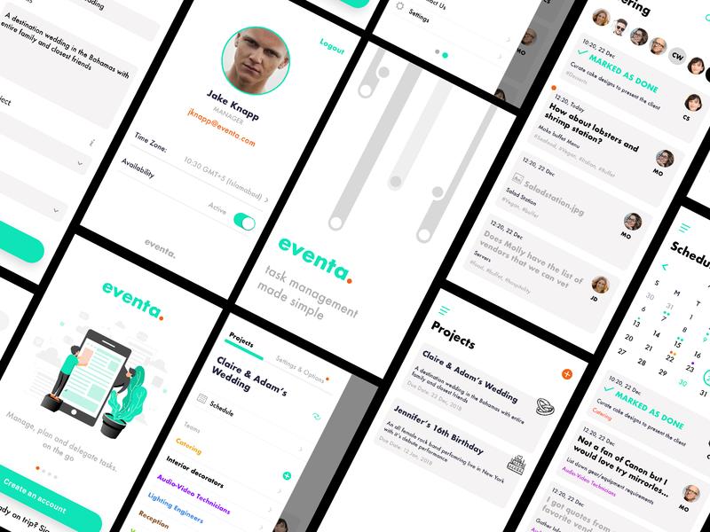 Event Manager App events app delegation assigning schedule collaboration social tasks management ui ux app event