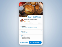 Table booking/reservation widget interaction
