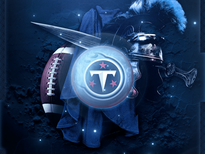 Titans Tennessee - Wallpaper styleframe compositing logo visual identity design football nfl tennessee