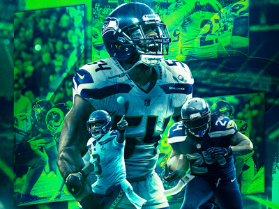 Seattle Seahawks - Wallpapers visual identity football visual designs styleframe compositing visual design sports design us sports seahawks