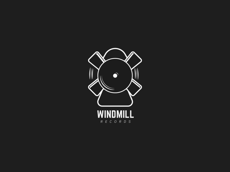 Windmill Records ~ Daily logo Challenge (Day 36) branding challenge logo design daily logo challenge design logo