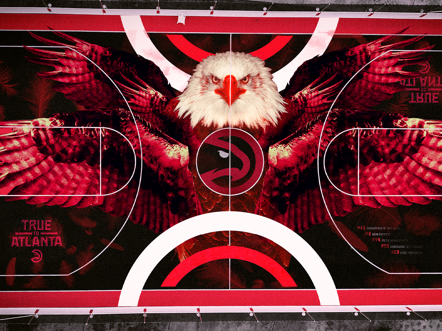Atlanta Hawks - Basketball court basketball court design georgia eagle nba basketball logo atlanta hawks basketball