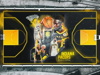 Indiana Pacers - NBA court design branding design pacers court design basketball nba indiana pacers