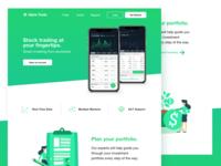 Stock Market App - Landing Page