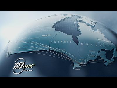 Precise ParkLink motion visuals motion graphics arnold render look development concept art after effects cinema4d 3d canada parklink