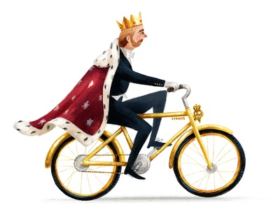 fit for a king cyclists bike ride bikes bicycle illustration cyclist textured bike royal king