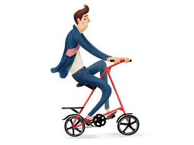 A frame bicycle foldable bikes illustration bikes textured cyclist bike