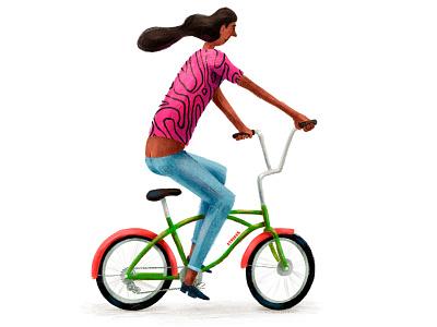 TallGuy fiets cyclists bike ride bikes bicycle illustration cyclist textured bike