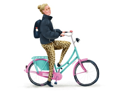 Custom Paint Job cyclists bike ride bikes bicycle illustration cyclist textured bike