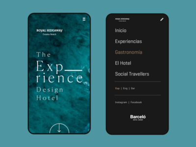 The Experience Design Hotel - Barceló Hotels interface ui photoshop sketch visual design app design app webdesign web